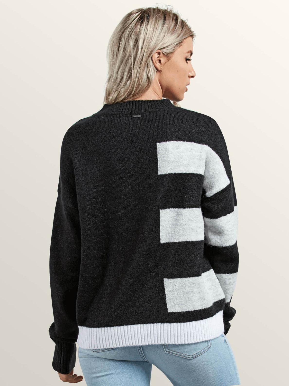 Cold Band Sweater In Black, Back View