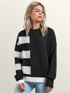 Cold Band Sweater In Black, Front View
