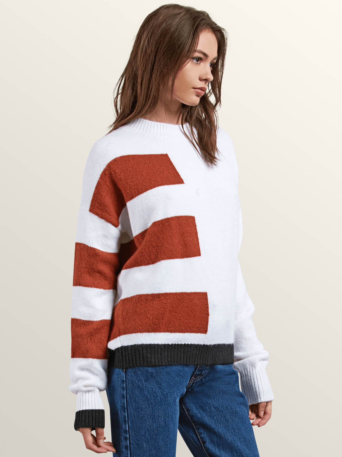 Cold Band Sweater In White, Alternate View