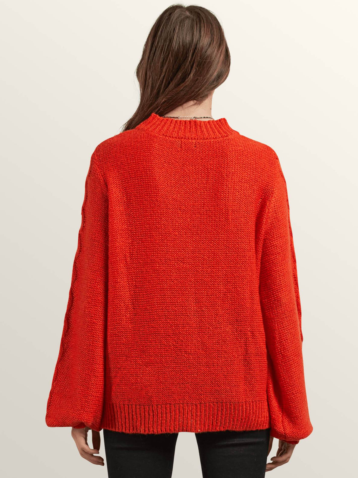 Hellooo Sweater In Tangerine, Back View