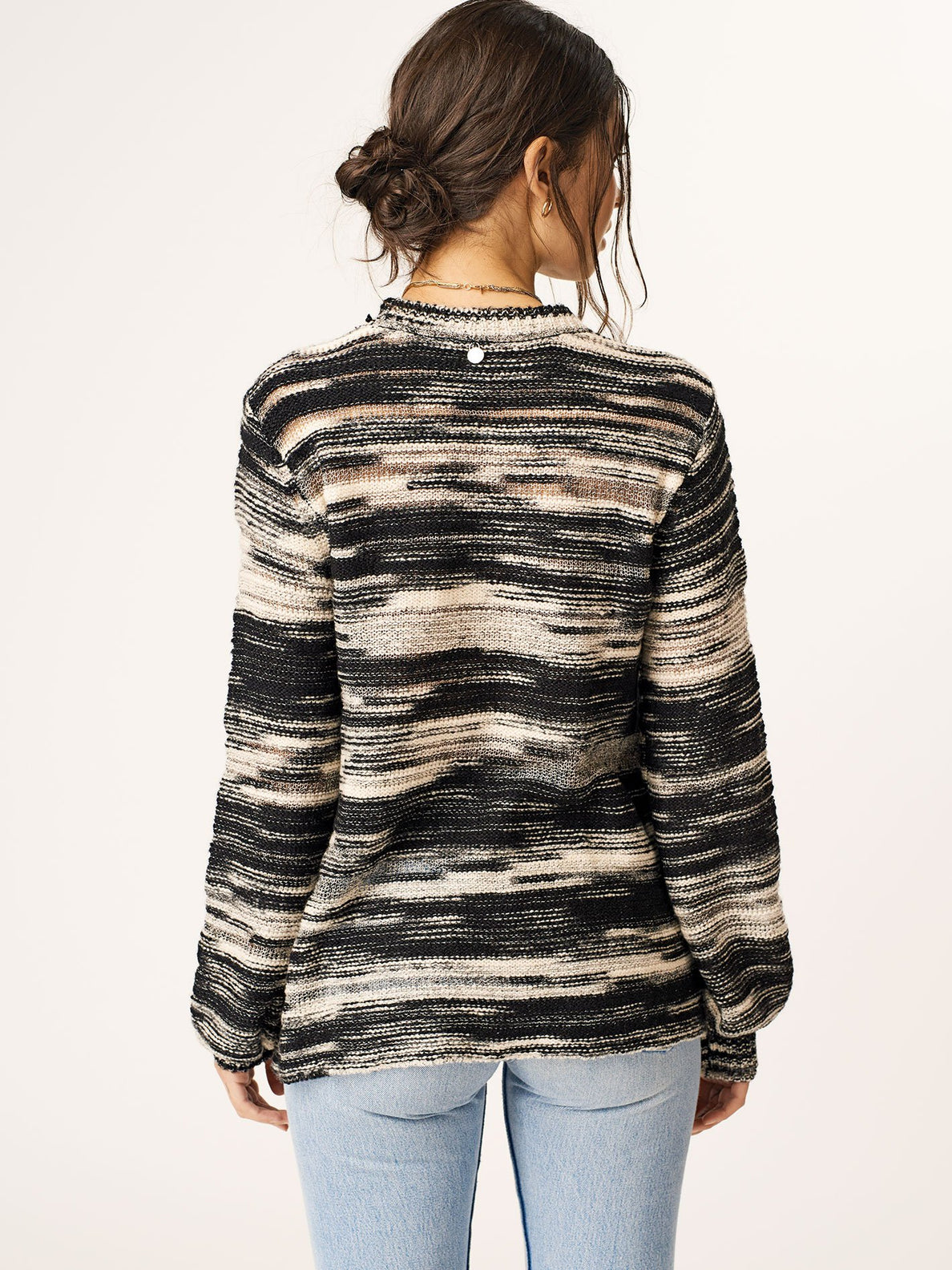 Foiled Again Sweater In Black Combo, Back View