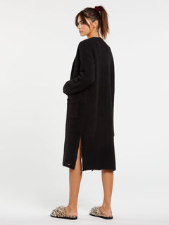 Lived In Lounge Cardigan - Black (B0732006_BLK) [B]