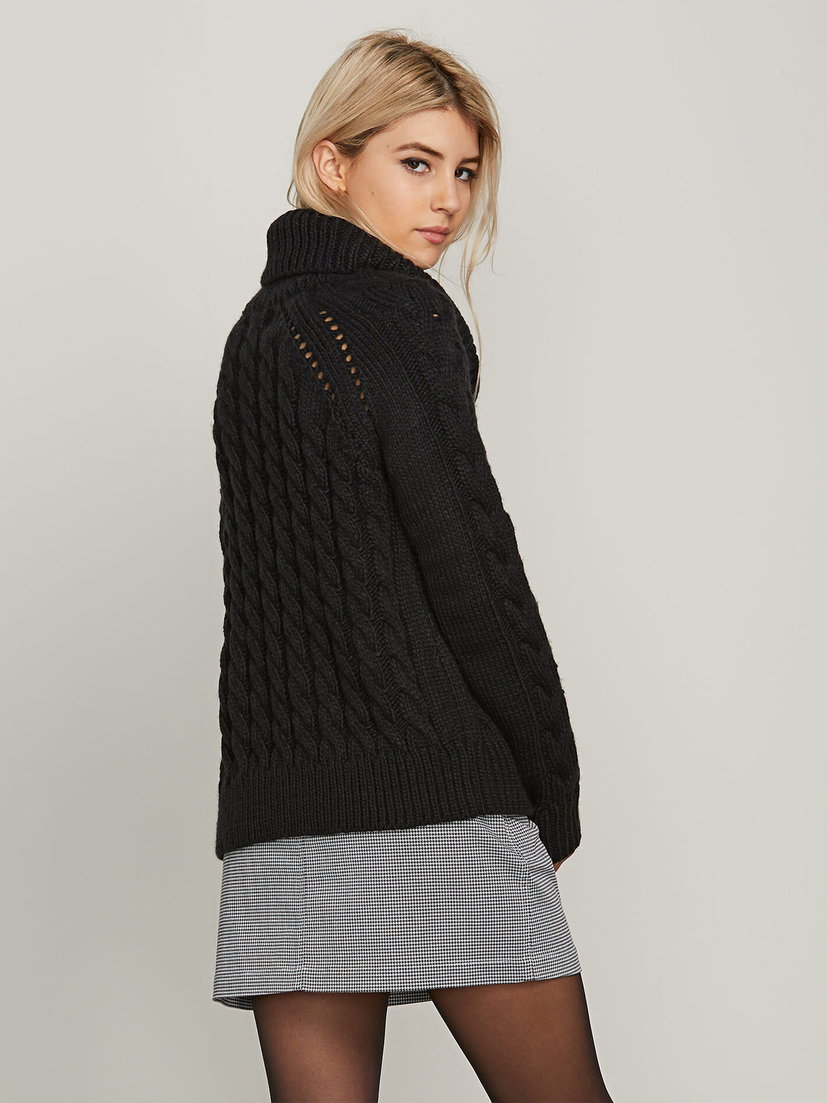 Snooders Sweater In Black, Alternate View