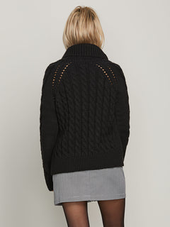 Snooders Sweater In Black, Back View