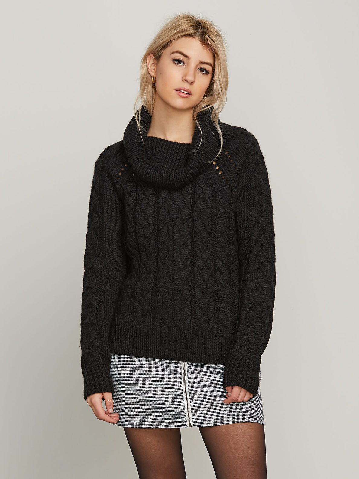 Snooders Sweater In Black, Front View
