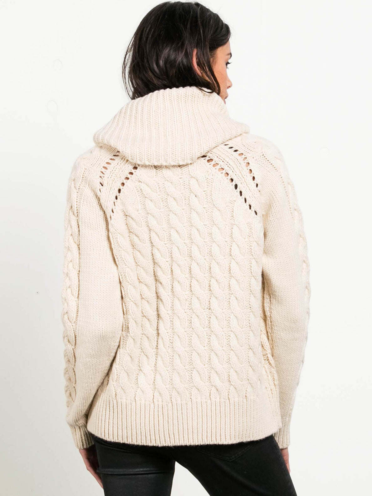 Snooders Sweater In Oatmeal, Back View