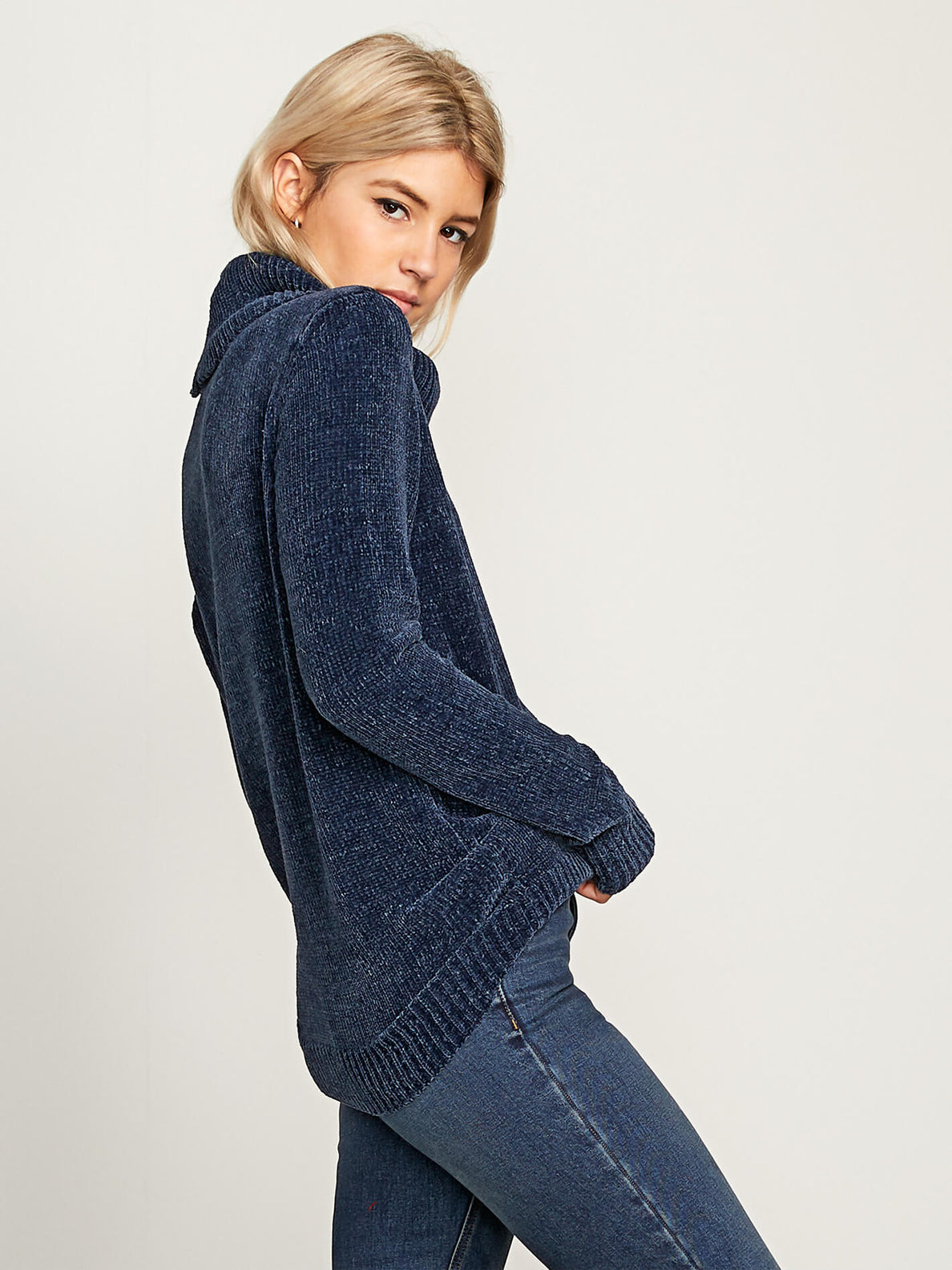 Cozy On Over Sweater In Sea Navy, Alternate View