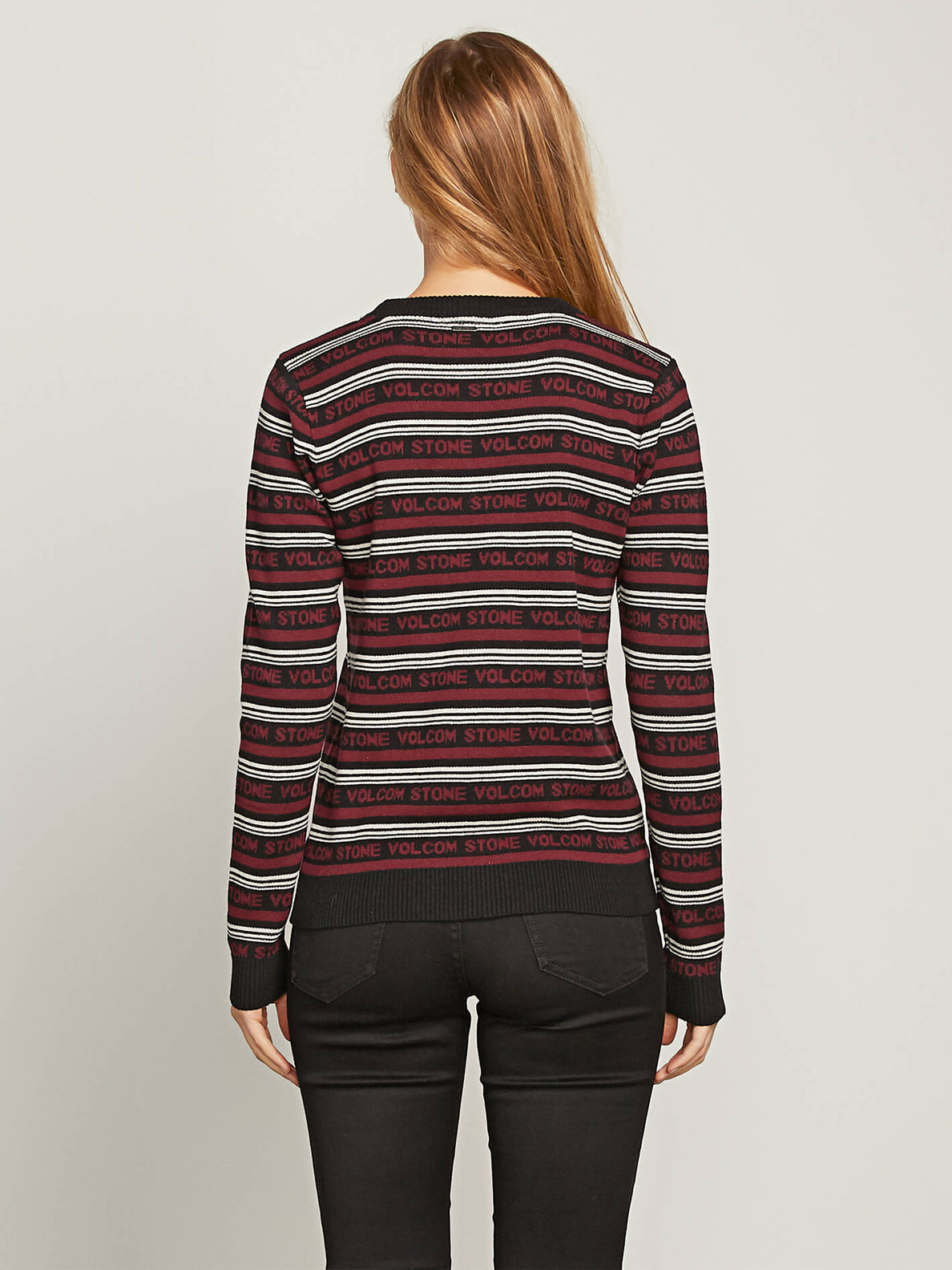 Flip Hop Sweater In Black Combo, Back View