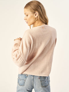 Yes Ma'am Sweater In Peach Blush, Back View