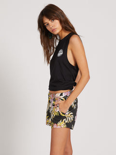 Frochickie Shorts - Black Floral Print (B0911800_BFP) [1]