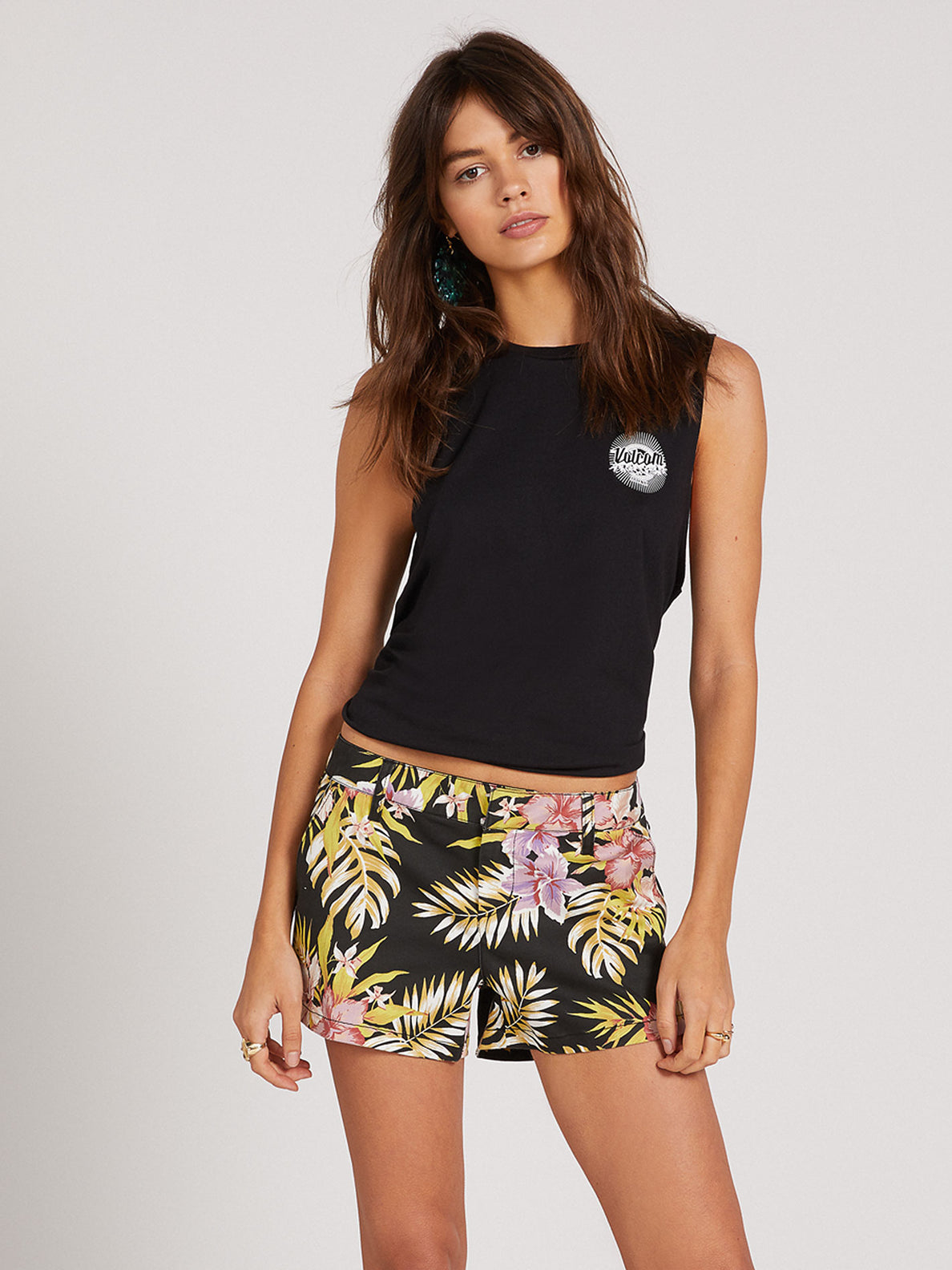 Frochickie Shorts - Black Floral Print (B0911800_BFP) [F]