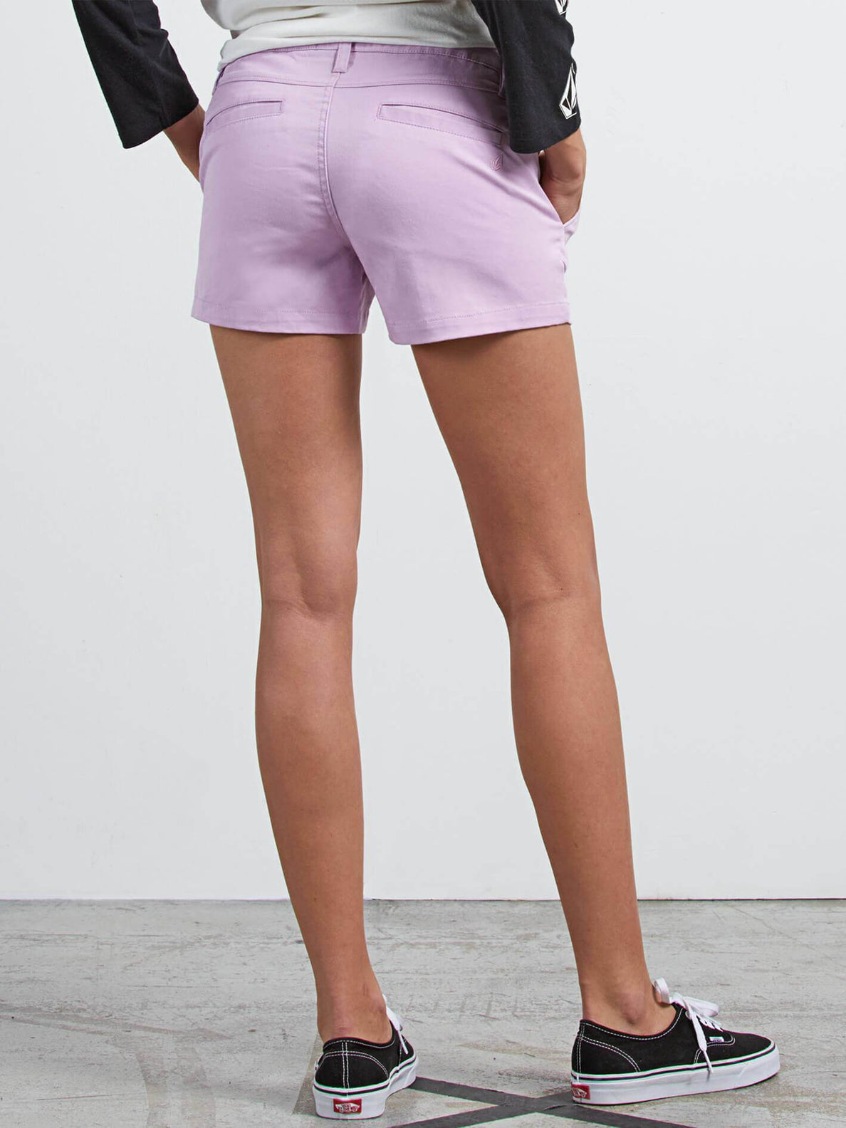 Frochickie Short In Blurred Violet, Back View