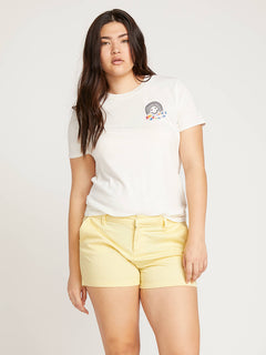 Frochickie Shorts In Faded Lemon, Front Extended Size View