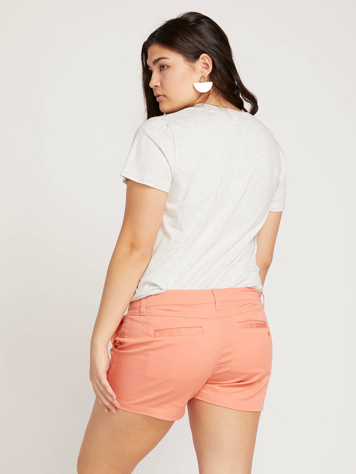 Frochickie Shorts In Terra Cotta, Back Extended Size View