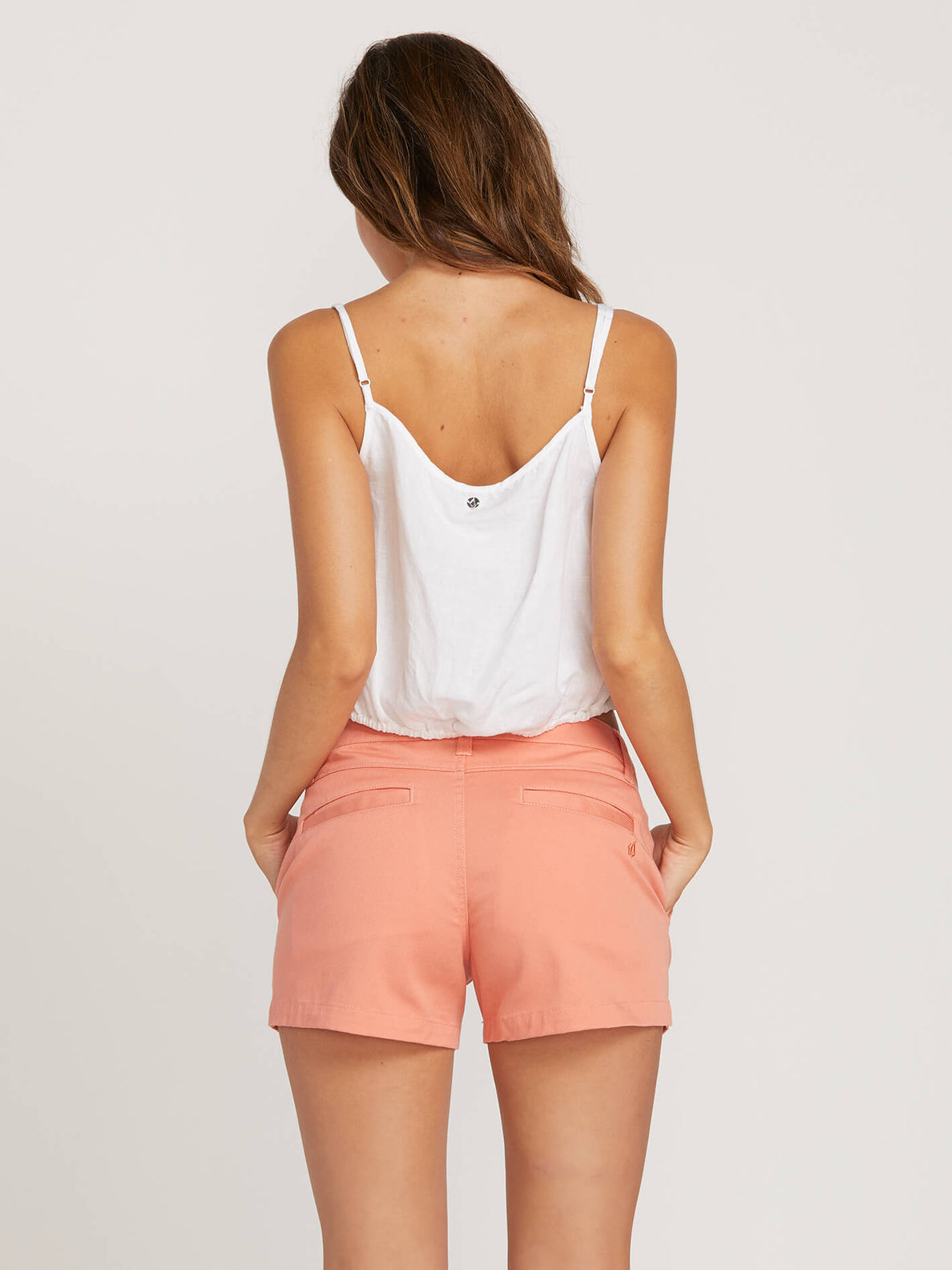 Frochickie Shorts In Terra Cotta, Back View