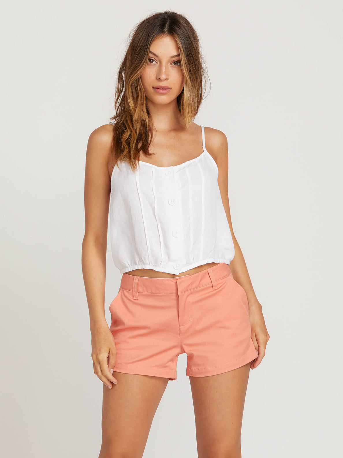 Frochickie Shorts In Terra Cotta, Front View