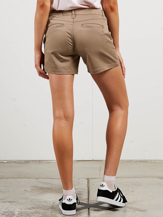 Frochickie Midi Shorts In Khaki, Back View