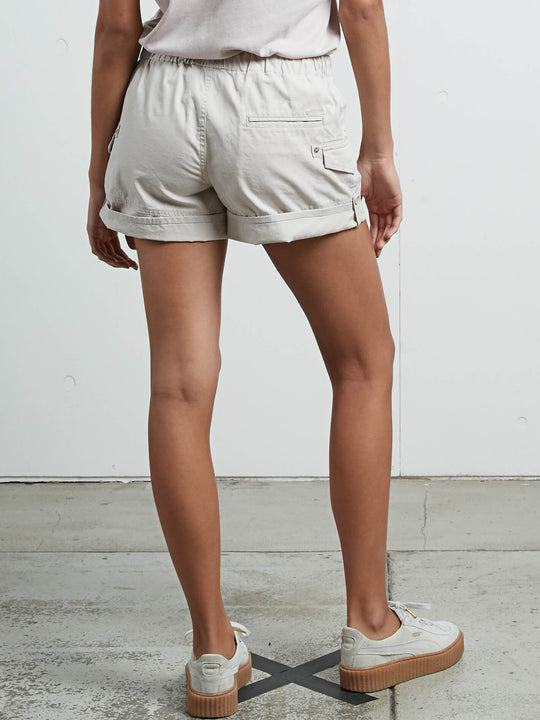 Stash Shorts In Light Grey, Back View