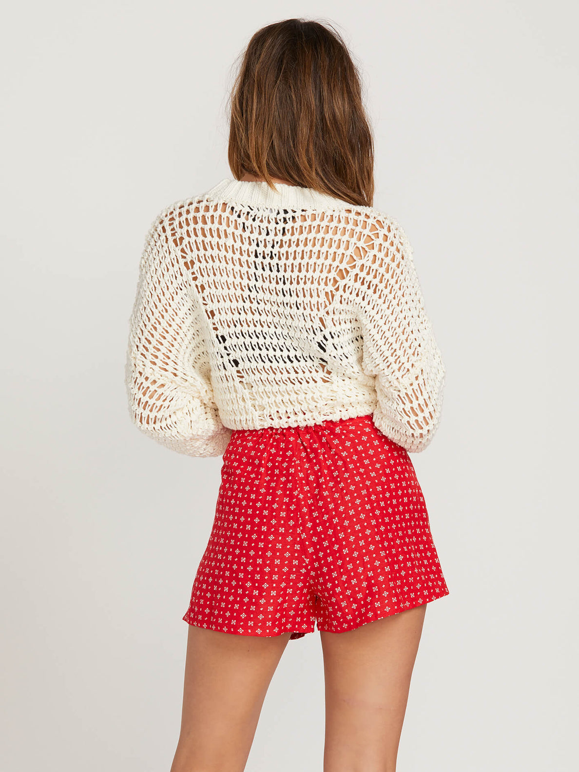 Salt And Sun Short In Red, Back View