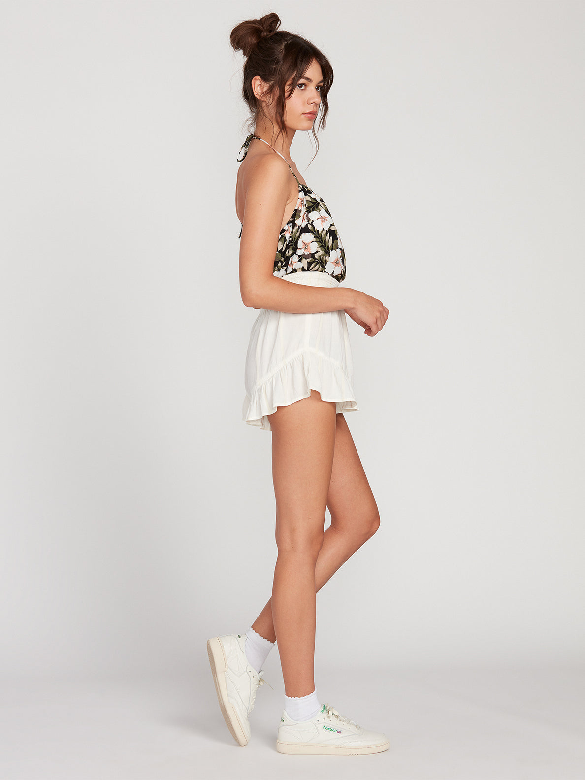 Coco Smocked Short - White
