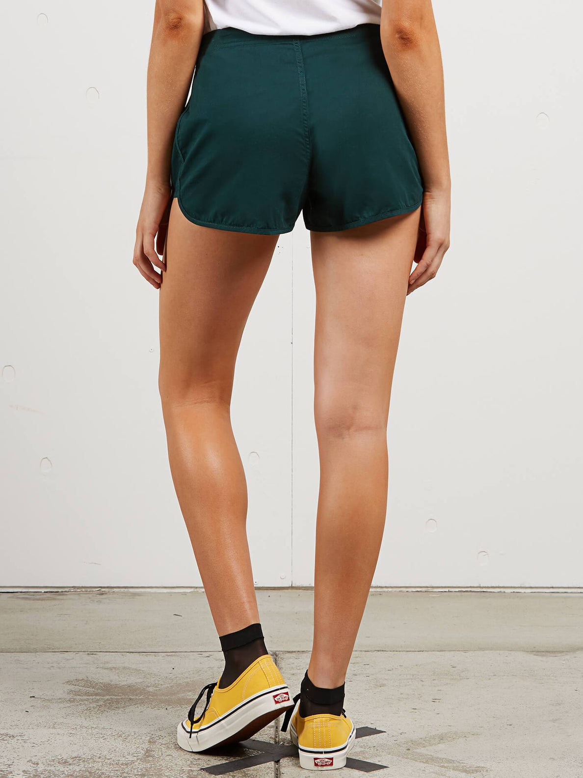 Stoney Shorts In Evergreen, Back View