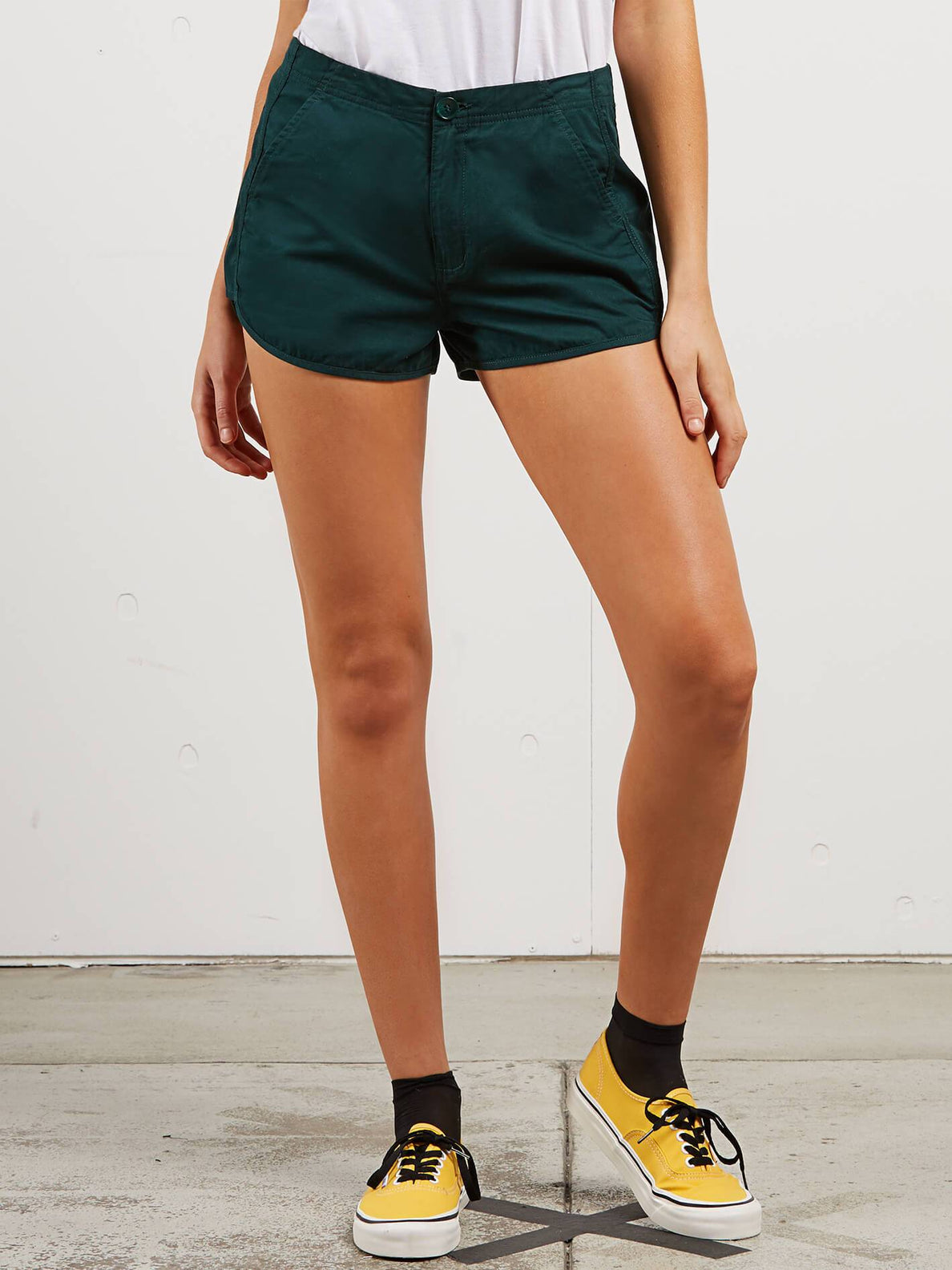 Stoney Shorts In Evergreen, Front View