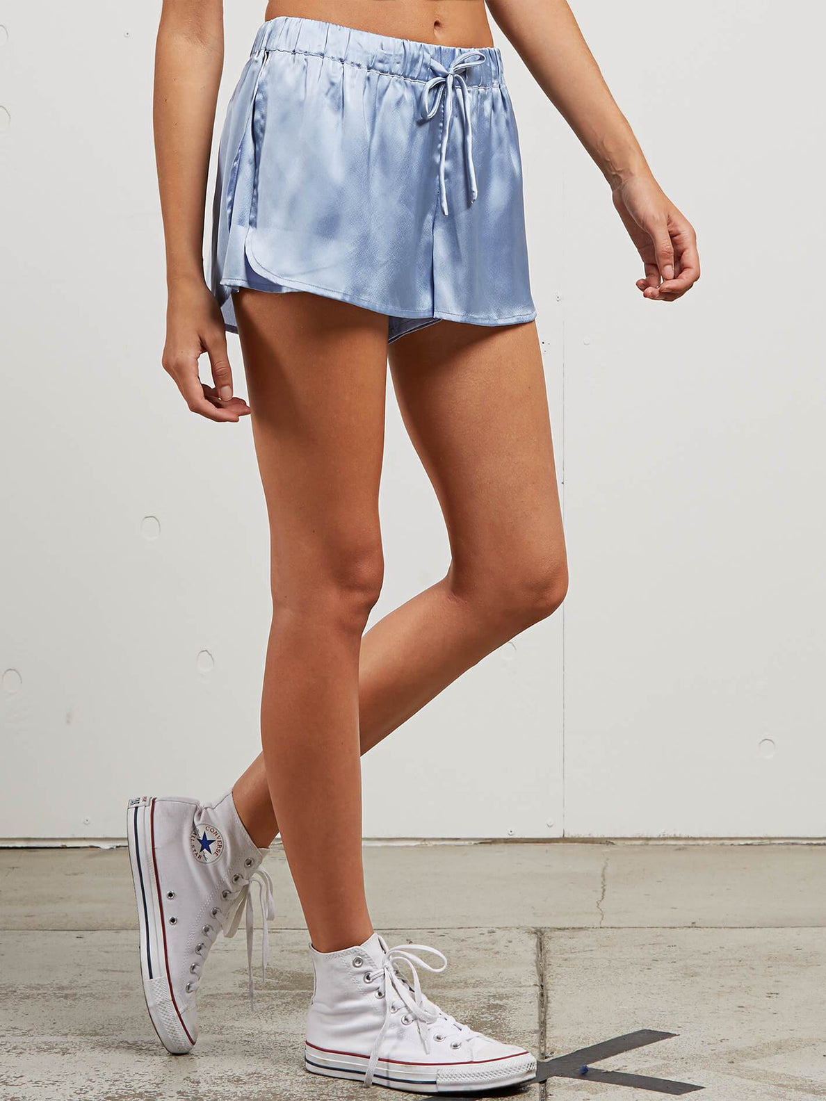 You Want This Shorts In Misty Blue, Alternate View
