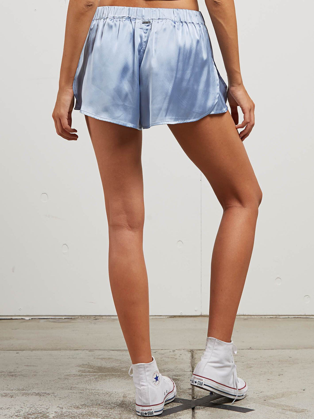 You Want This Shorts In Misty Blue, Back View
