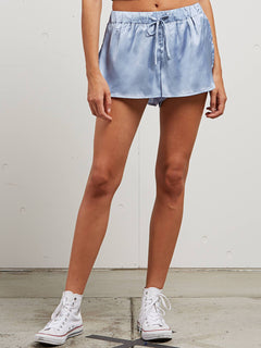 You Want This Shorts In Misty Blue, Front View