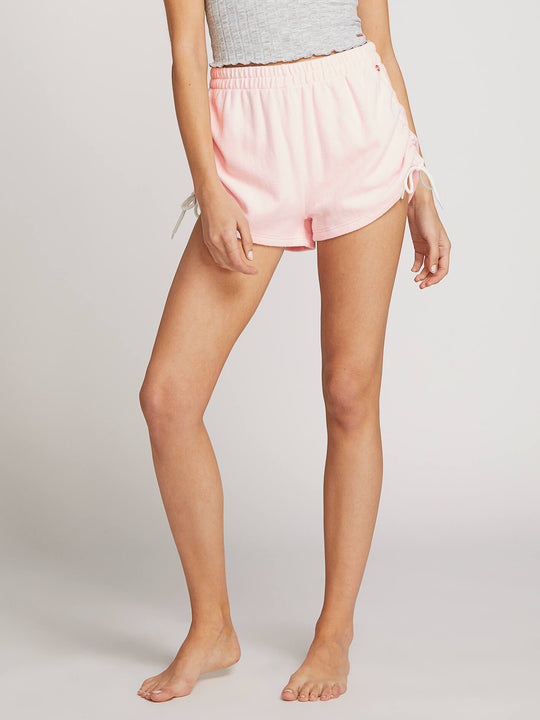 Lived In Lounge Fleece Shorts - Blush Pink