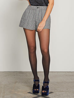 Ur A Plaid Girl Shorts In Black Combo, Second Alternate View