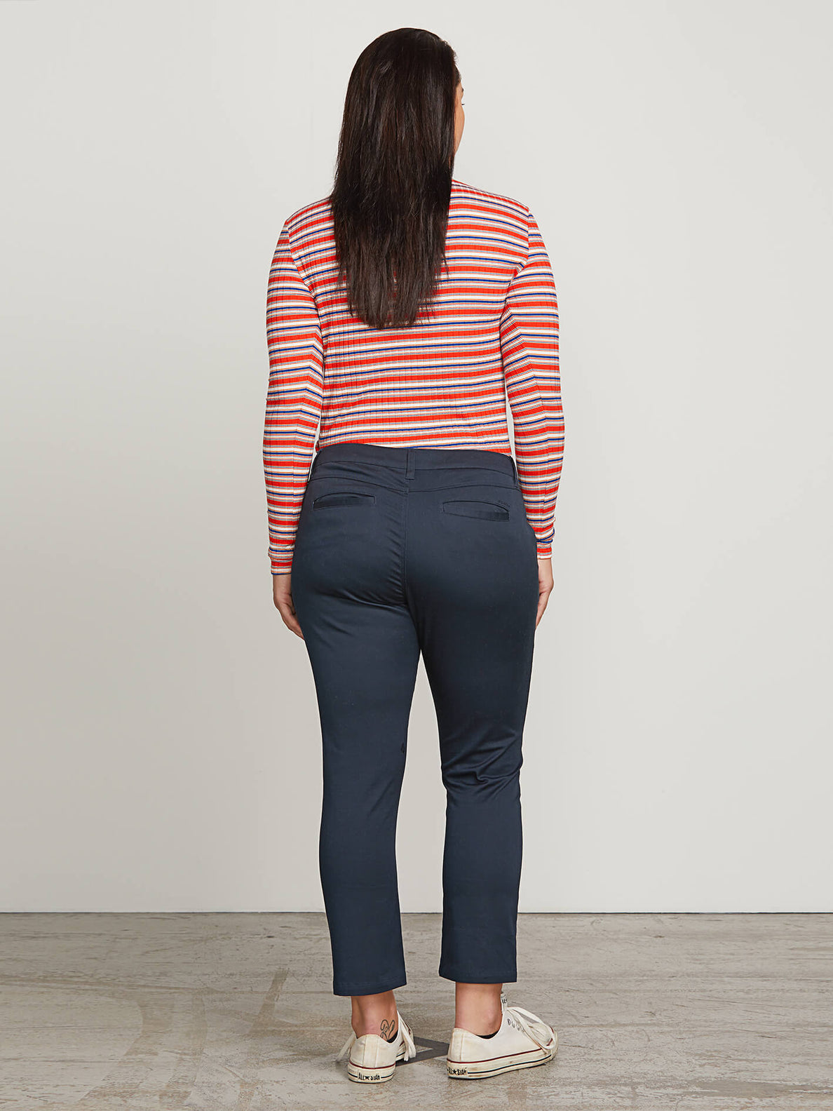 Frochickie Pants In Navy, Back Extended Size View