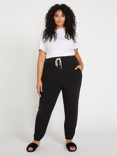 Lived In Lounge Fleece Pant Plus Size - Black