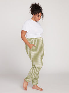 Lived In Lounge Fleece Pant Plus Size - Dusty Green (B1111801P_DGN) [1]