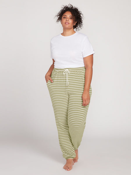 Lived In Lounge Fleece Pant Plus Size - Dusty Green
