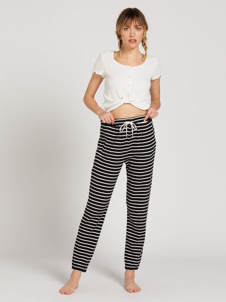 Lived In Lounge Fleece Pant - Black White