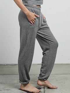 Lived In Lounge Fleece Pants In Charcoal Grey, Alternate View