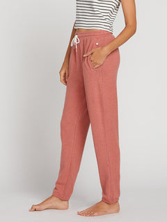Lived In Lounge Fleece Pants In Mauve, Alternate View