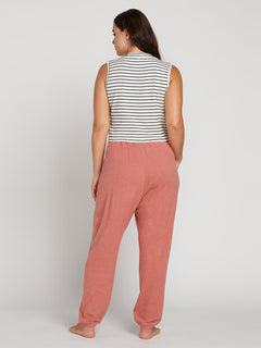 Lived In Lounge Fleece Pants In Mauve, Back Extended Size View