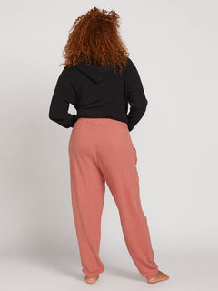 Lived In Lounge Fleece Pants In Mauve, Back Plus Size View