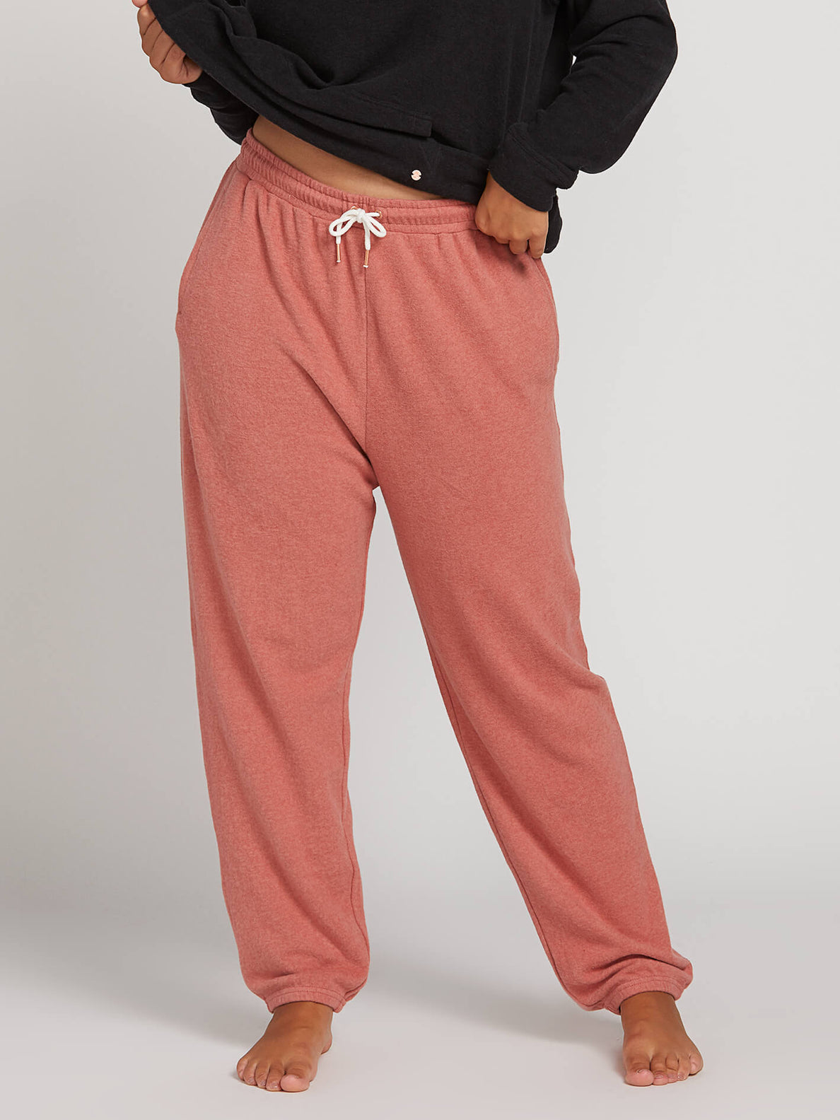 Lived In Lounge Fleece Pants In Mauve, Alternate Plus Size View