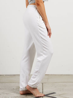 Lil Fleece Pant In White, Alternate View