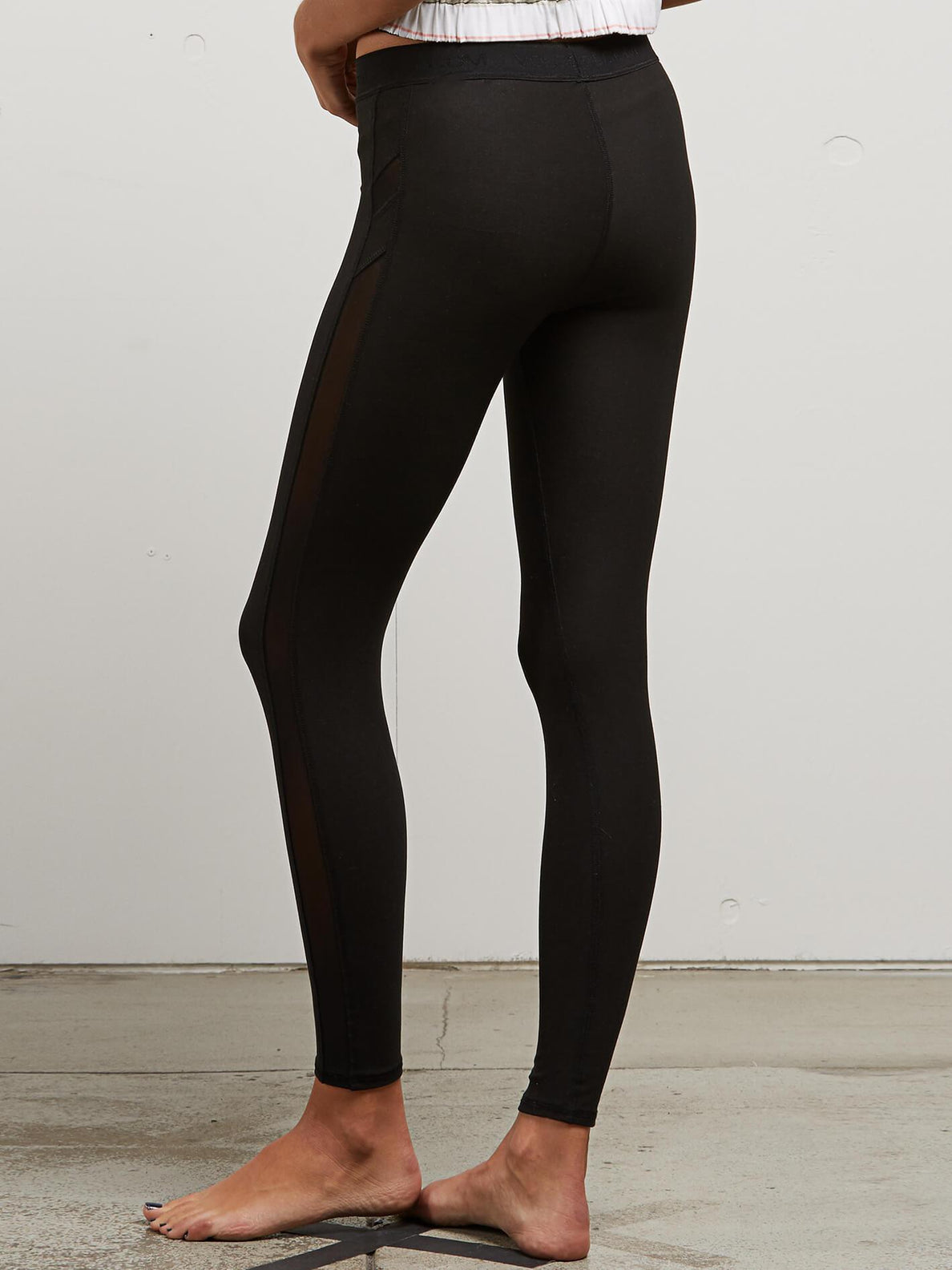 Lived In Lounge Leggings In Black, Back View