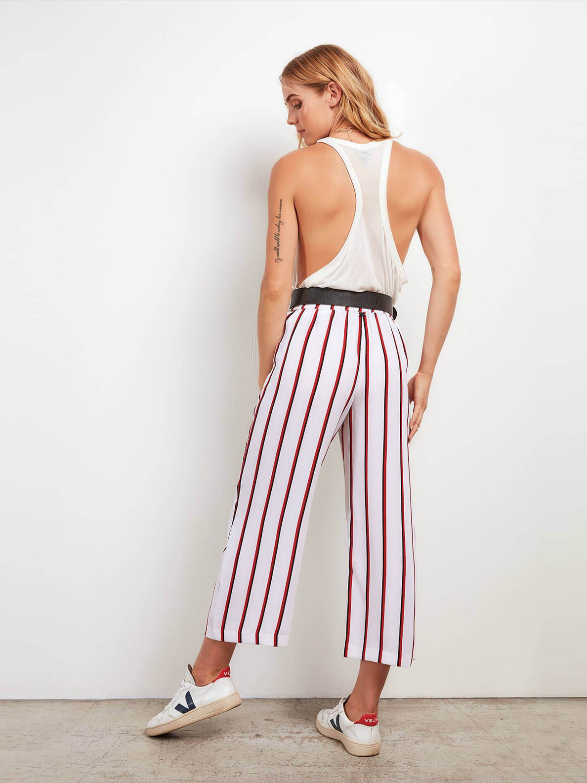 Counting Moons Pants In Chili Red, Back View