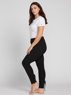 Lived In Lounge Leggings W/ Lace Up Back In Black, Alternate View