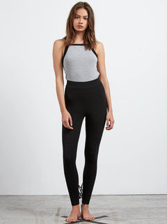 Lived In Lounge Leggings W/ Lace Up Back In Black, Second Alternate View
