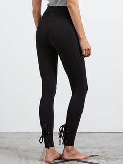 Lived In Lounge Leggings W/ Lace Up Back In Black, Back View