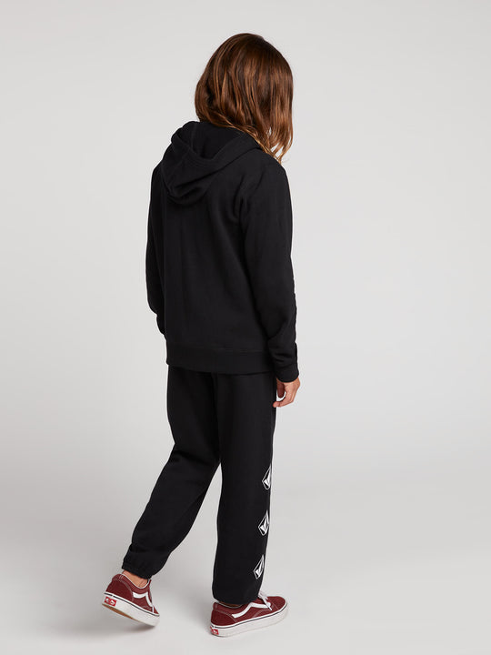 Big Girls Vol Stone Fleece Pants In Black Combo, Back View