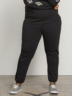 Vol Stone Fleece Pants In Black, Second Alternate Plus Size View