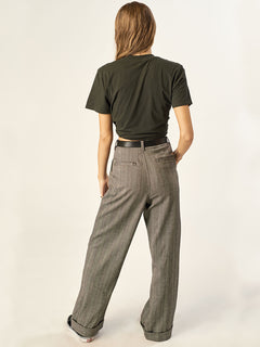 Suits Me Fine Pant In Black Combo, Back View